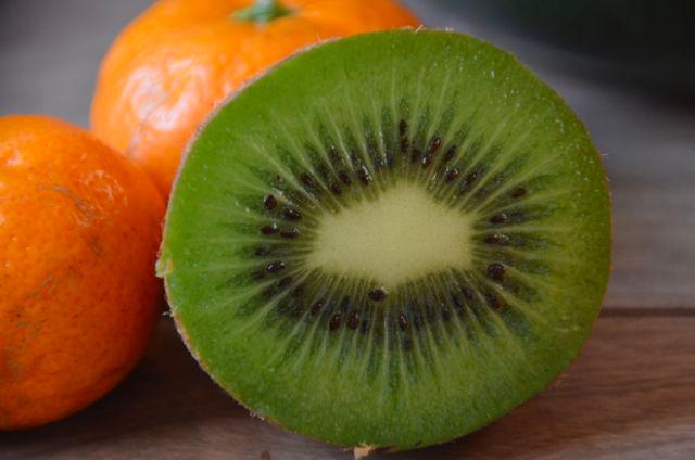 Kiwi fruit for breakfast!