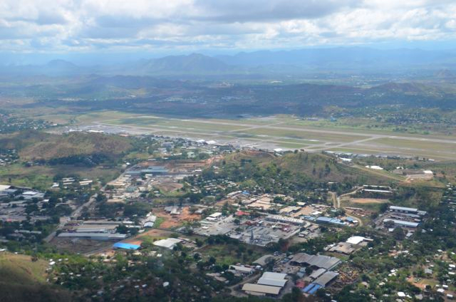 leaving Port Moresby behind