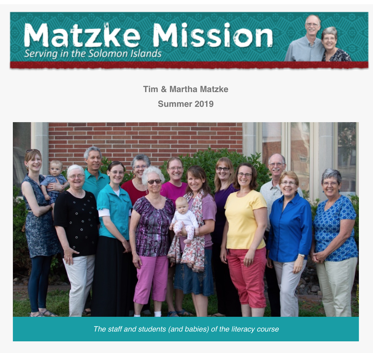 Matzke Mission – Summer 2019
